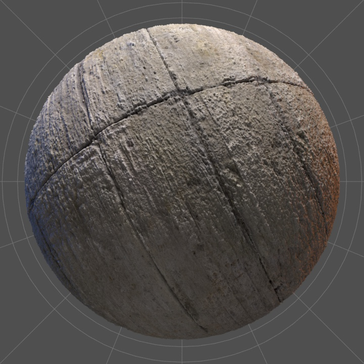 Thumbnail of a worn out seamless concrete texture in 4K.