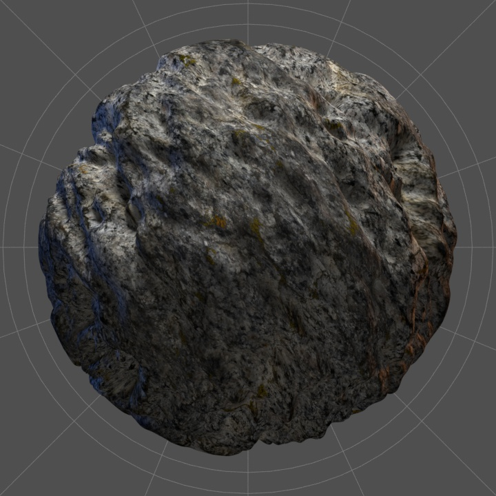Rendered rock texture with heavy 4K displacement map.