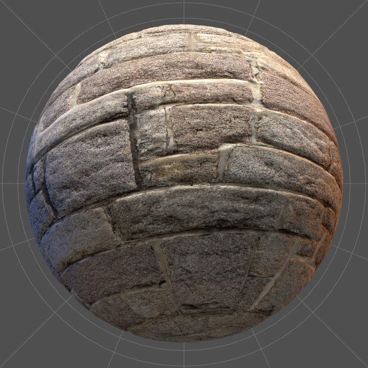 Thumbnail of a histrical wall texture in 4K with high resolution normal map.
